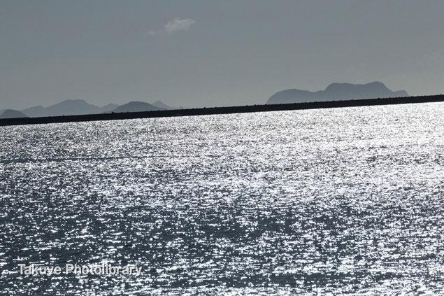 沖縄写真 銀の海 慶良間諸島