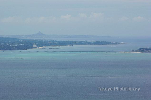 古宇利大橋 伊江島 沖縄の風景