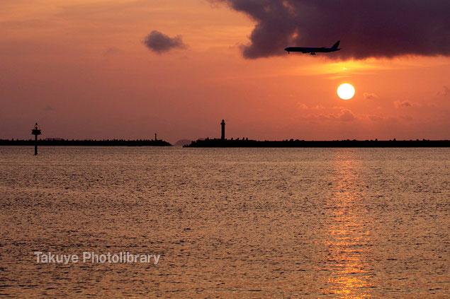 沖縄写真 夕焼け 夕陽の写真 沖縄の風景