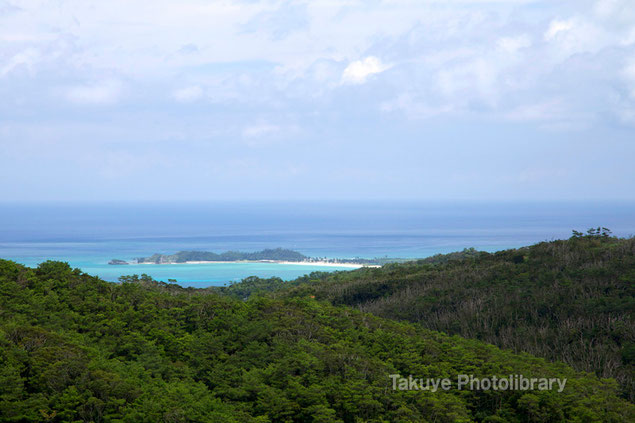 石山展望台眺望 オクマビーチ 沖縄の風景