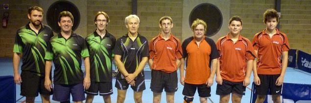 Elite contre Oradour/Vayres : Dimitri B., Pascal S., Arnaud L. et Gatien M.