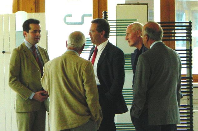 Besuch Ferroli SpA Generaldirektor Bruno Cattelan (Mitte), v.l. : Dr.Markus Seiller-Tarbuk, Ing.Max Löblich, GD Cattelan, Dir.Fritz Homolka, Ing.Günther Kornfeld