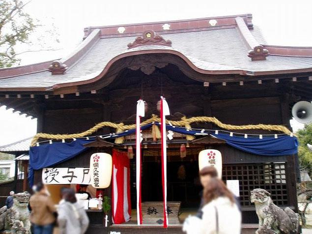 蠣久天満宮拝殿(2007.01.01)