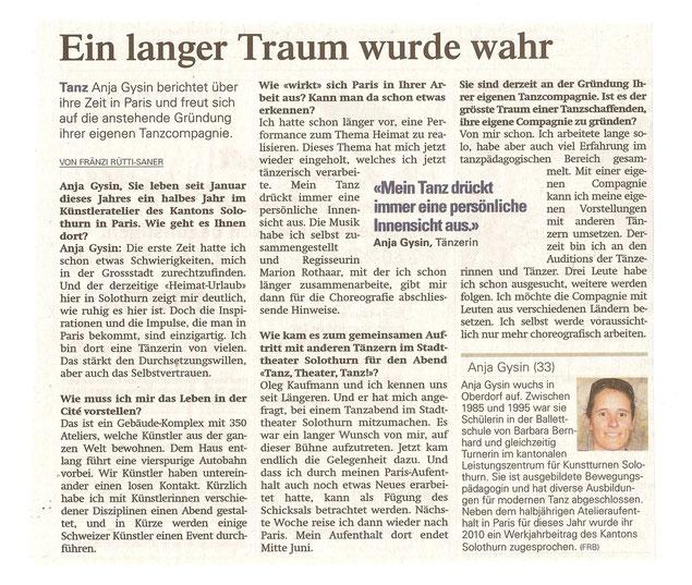 Solothurner Zeitung April 2012