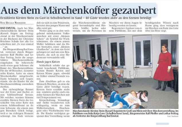 Märchenhaft im Habichtswald mit Erzählkünstlerin Kirsten Stein
