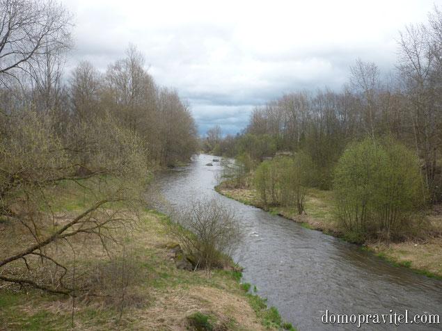 на фото: поселок Лукаши, река Ижора