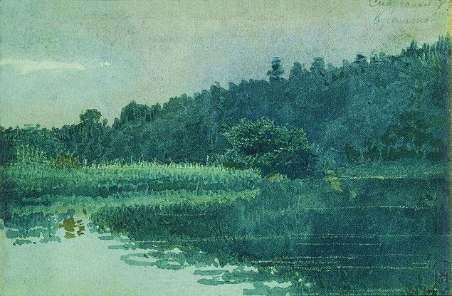 """Крамской Иван Николаевич """"Сиверская. Река Оредеж""""  (1883 год)"""
