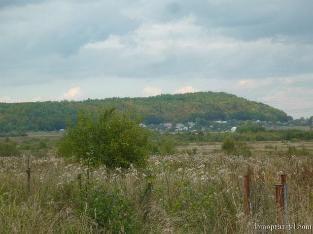 Вид на Ижорские возвышенности с деревни Александровка