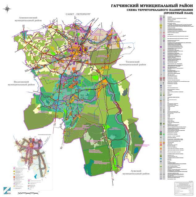 Подробный проектный план Гатчинского района (нажмите для увеличения)