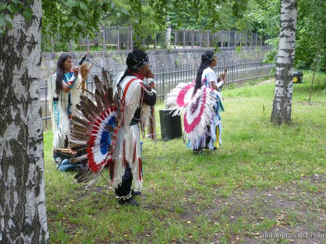 Индейцы в Кронштадте. День ВМФ 2015.