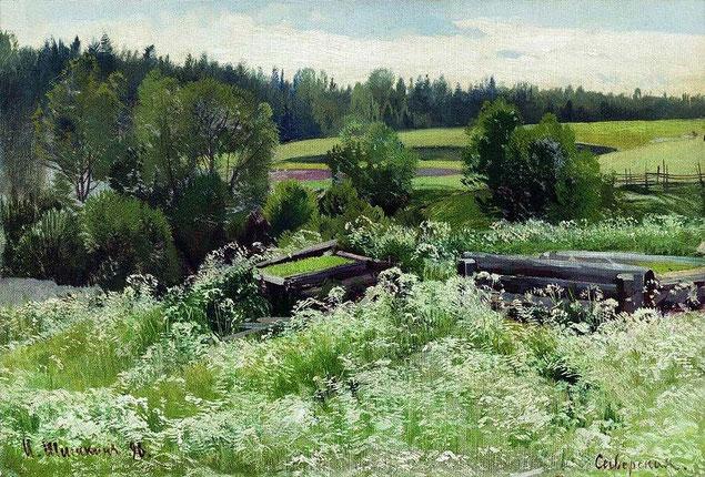 "Шишкин Иван Иванович ""В Сиверской"" (1896 год)"