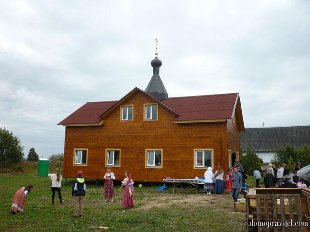 Действующий православный храм в деревне Александровка