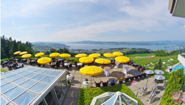 Aussicht Panorama Resort Spa Feusisberg Hochzeit DJ Benz
