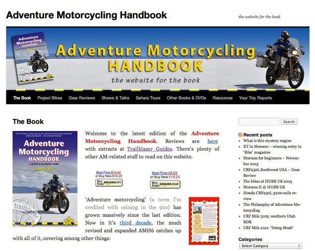 Adventure-motorcyclingh.com, Book Website