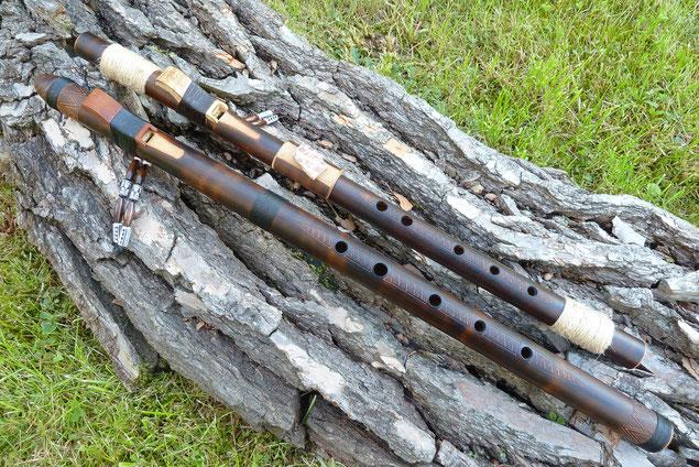 """""""Kiowa Love Flutes"""" aus Bambus in den Tonarten """"F"""" und """"D"""""""