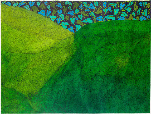 Blätterhimmel, Tusche/Papier, 95 x 125 cm, 2020