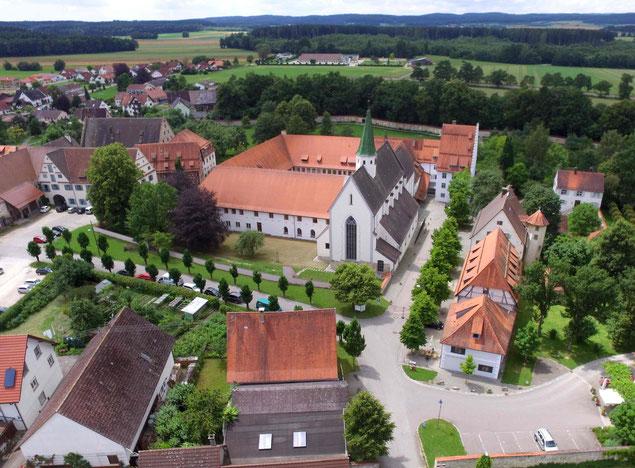 Blick Bruder-Klaus-Visionenweg Klosteranlage Heiligkreuztal