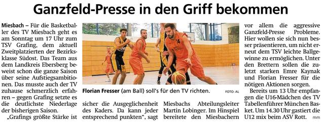 Artikel im Miesbacher Merkur am 23.2.2019 - Zum Vergrößern klicken