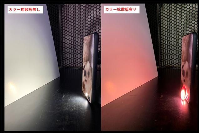 拡散板 カラー拡散印刷(色付き拡散印刷)の様子