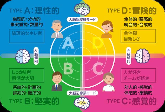 ハーマンモデルによる思考特性の4分類