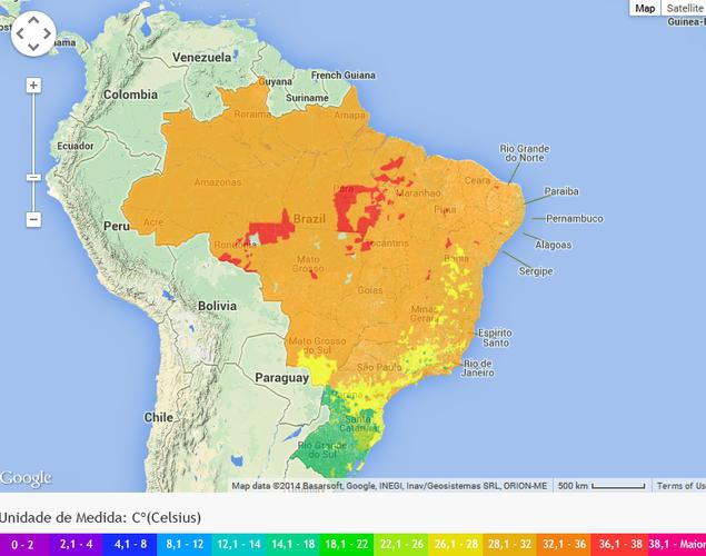 Carte Climat Bresil.Climat Bresilien Lebresilien Com