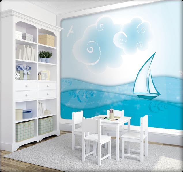Wandgestaltung Wandbild maritim