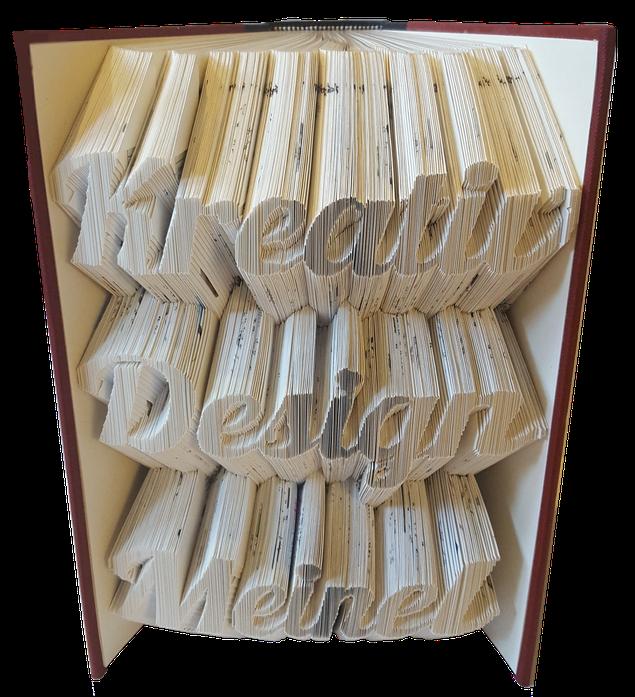 Bücher falten, Buchkunst, Kreativ Design Meinel, Kreativdesign Mandy Meinel
