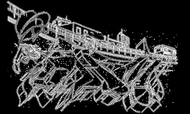 Eine Graffiti Skizze auf weißem Hintergrund. Zu sehen sind Bleistift Linien von einem Ohm Graffiti Schriftzug.