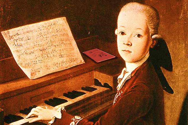 hat W.A. Mozart einen Notenchampion Trainer gehabt?