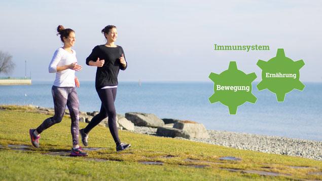 Das Immunsystem ist wichtig und kann durch Sport gekräftigt werden