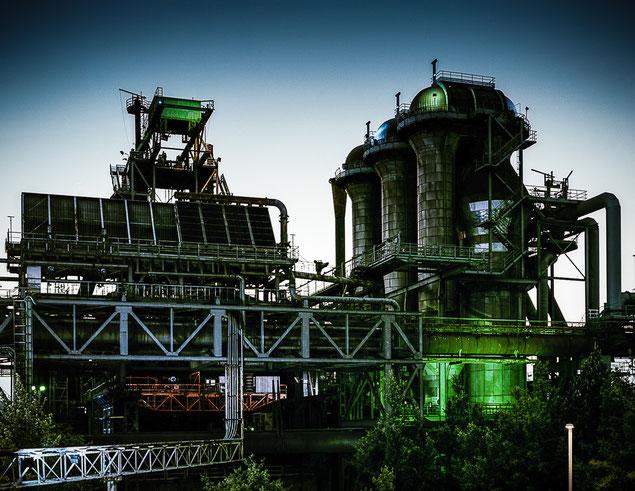 Illumination für ein Denkmal der Industriegeschichte