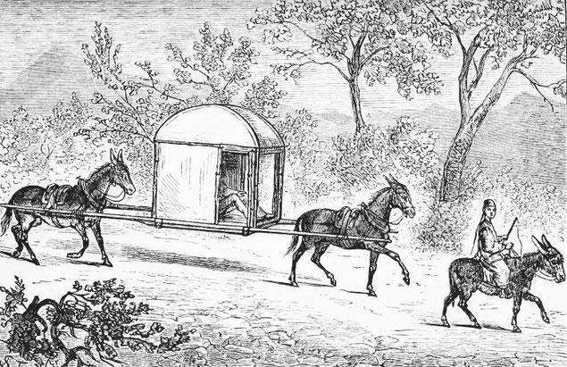 Mon palanquin. Victor Meignan (1846-) : De Paris à Pékin par terre. Plon, Paris, 1877