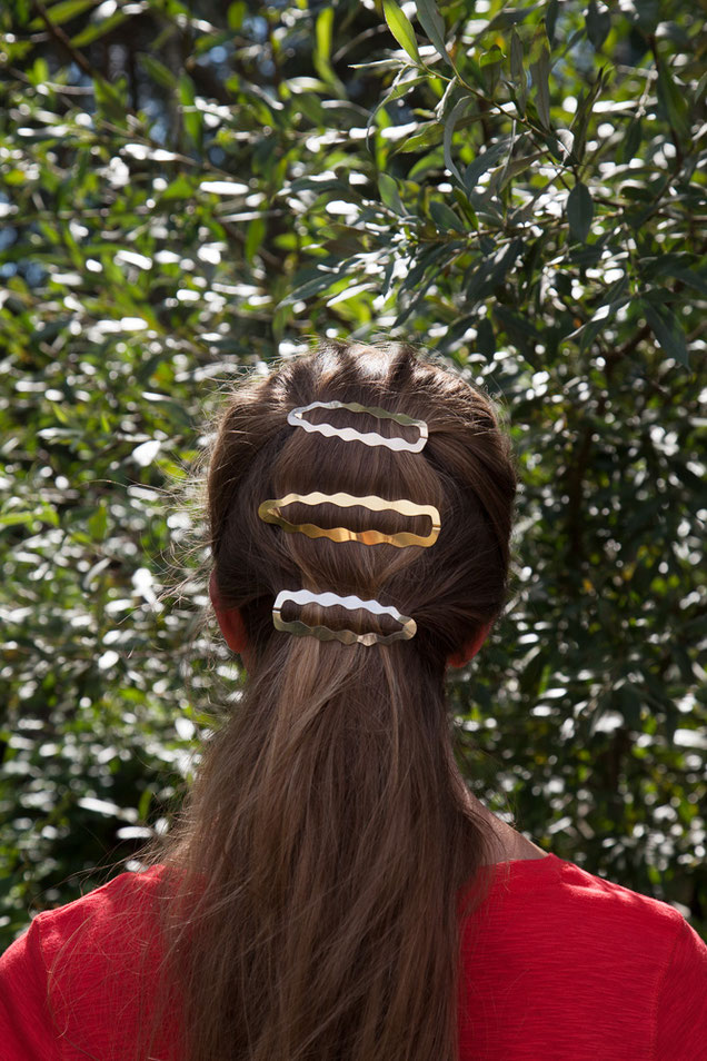 CLINQ Edition #02: DIONE; FRANCES; contemporary hair jewelry; hair clips; barrettes