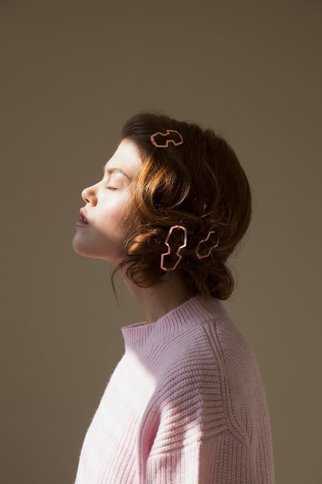 CLINQ Edition #02: MARIE; BIA; NELLY; contemporary hair jewelry; hair clips; barrettes