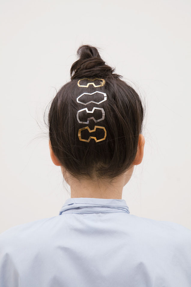 CLINQ Edition #02: MARIE; contemporary hair jewelry; hair clips; barrettes