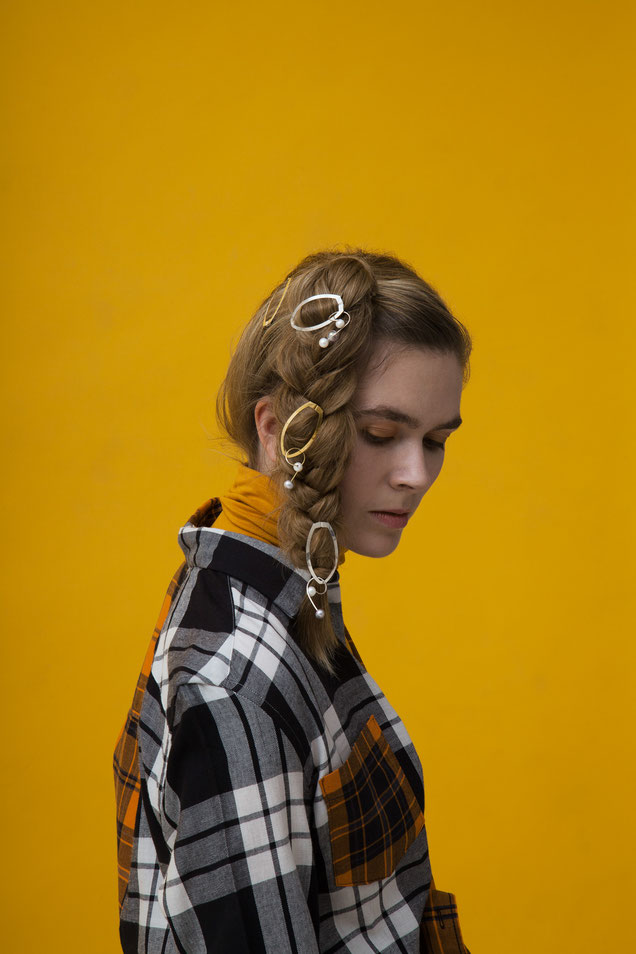 CLINQ Edition #05: FREYA; contemporary hair jewelry; hair clips; barrettes