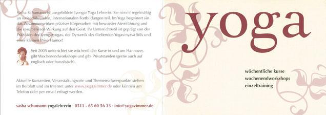 Flyer / yogazimmer in Linden