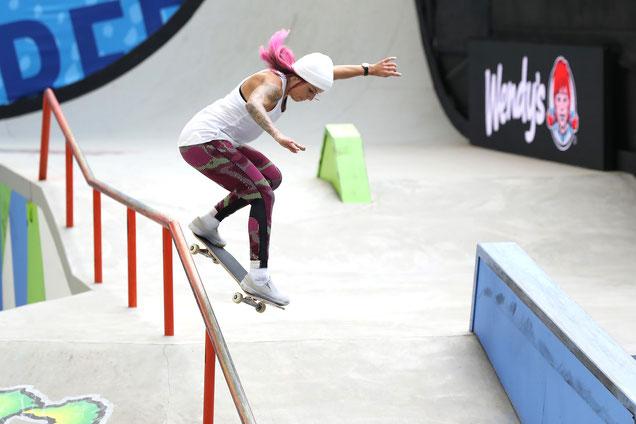 Prueba de Skateboarding o patineta olímpica