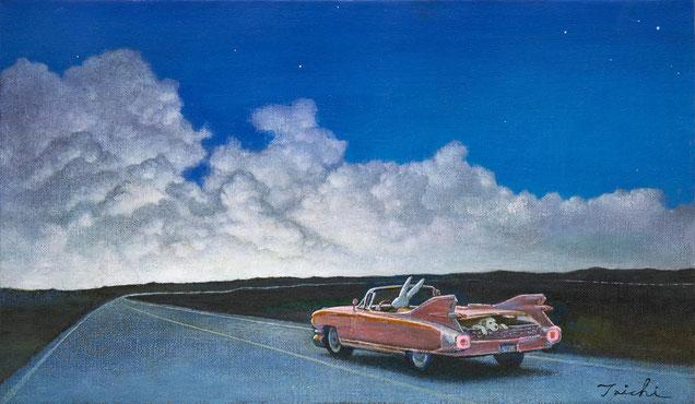 「Route66」キャンバスにオイル、M6、原太一作