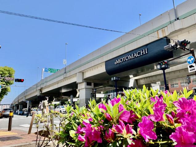 レザークラフト教室ヨコハマセリエがある横浜元町の入り口