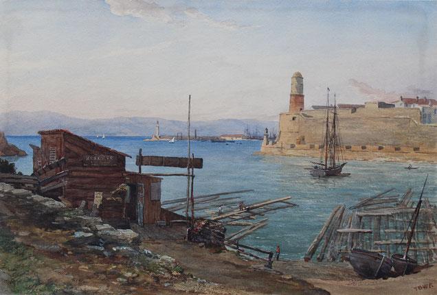 Thomas Burton Watkin Forster Karl Lang Archiv Büsingen TBWF Aquarell watercolor