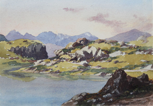 Thomas Burton Watkin Forster Karl Lang Archiv Büsingen Aquarell watercolor