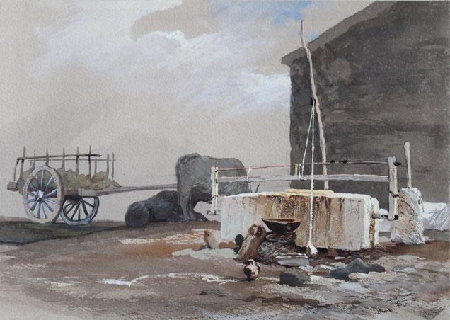 Thomas Burton Watkin Forster, Karl Lang Archiv Büsingen TBWF Aquarell watercolor