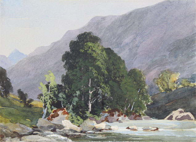 Karl Lang Archiv Büsingen Thomas Burton Watkin Forster TBWF, Aquarell watercolor