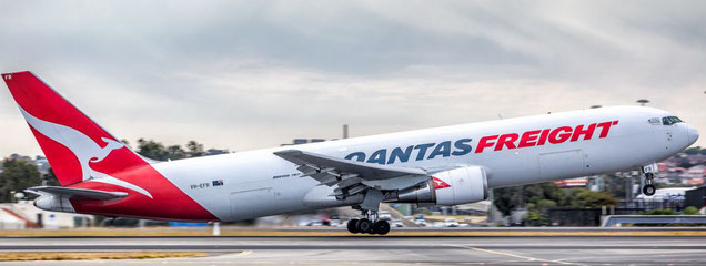 Qantas operated B767 Freighter - company courtesy