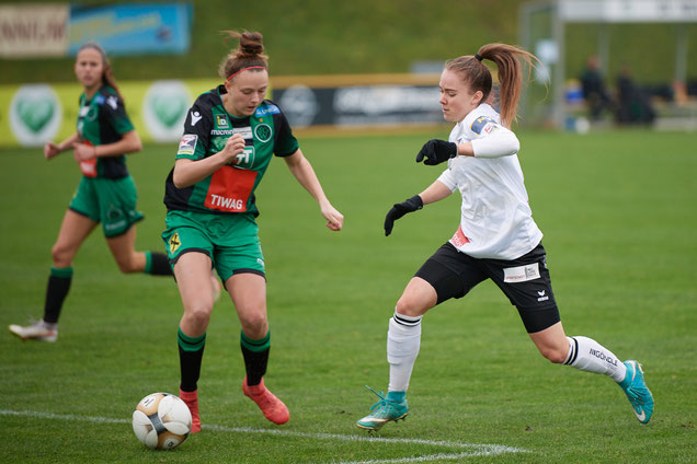 QUATTROPACK - Vier Treffer erzielt Lisa in der letzten Herbstrunde gegen Wacker Innsbruck!                      (Foto: ©Neulengbach/Schneider)
