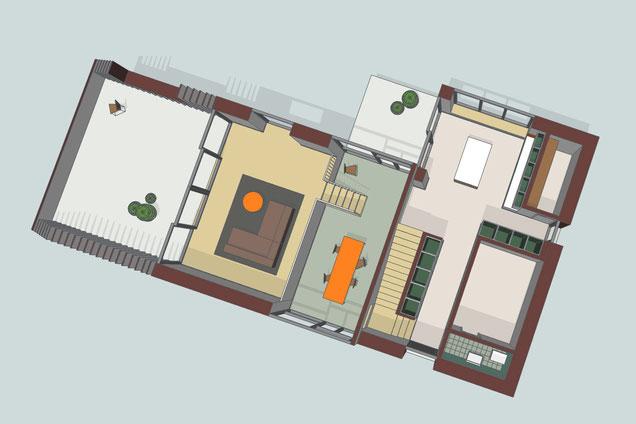 Neubau Wohnhaus in Hallau I 3D Modell