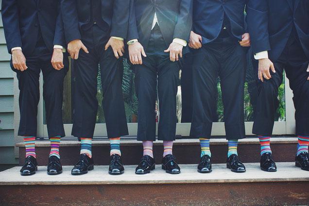 Bunte Socken, Funny, Hochzeit, Strümpfe