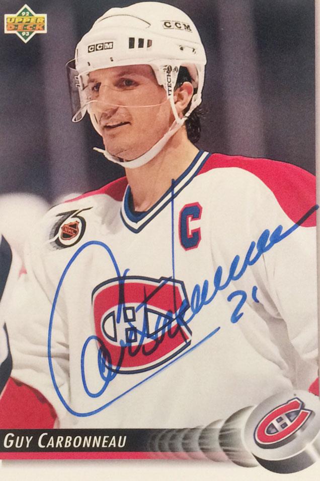 Autograph Guy Carbonneau Autogramm