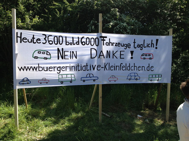 Unser Protestbanner